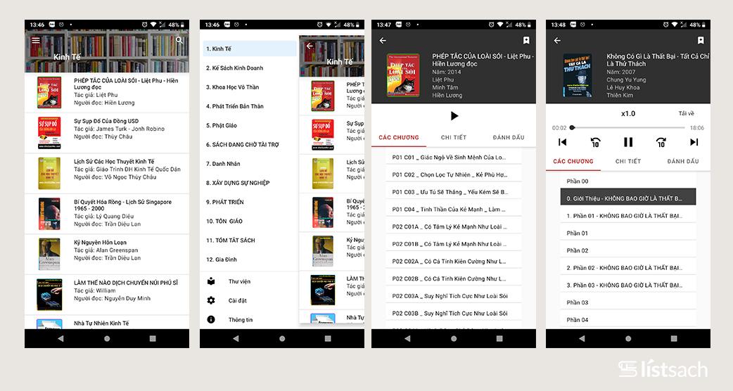 ứng dụng đọc sách kho sách nói