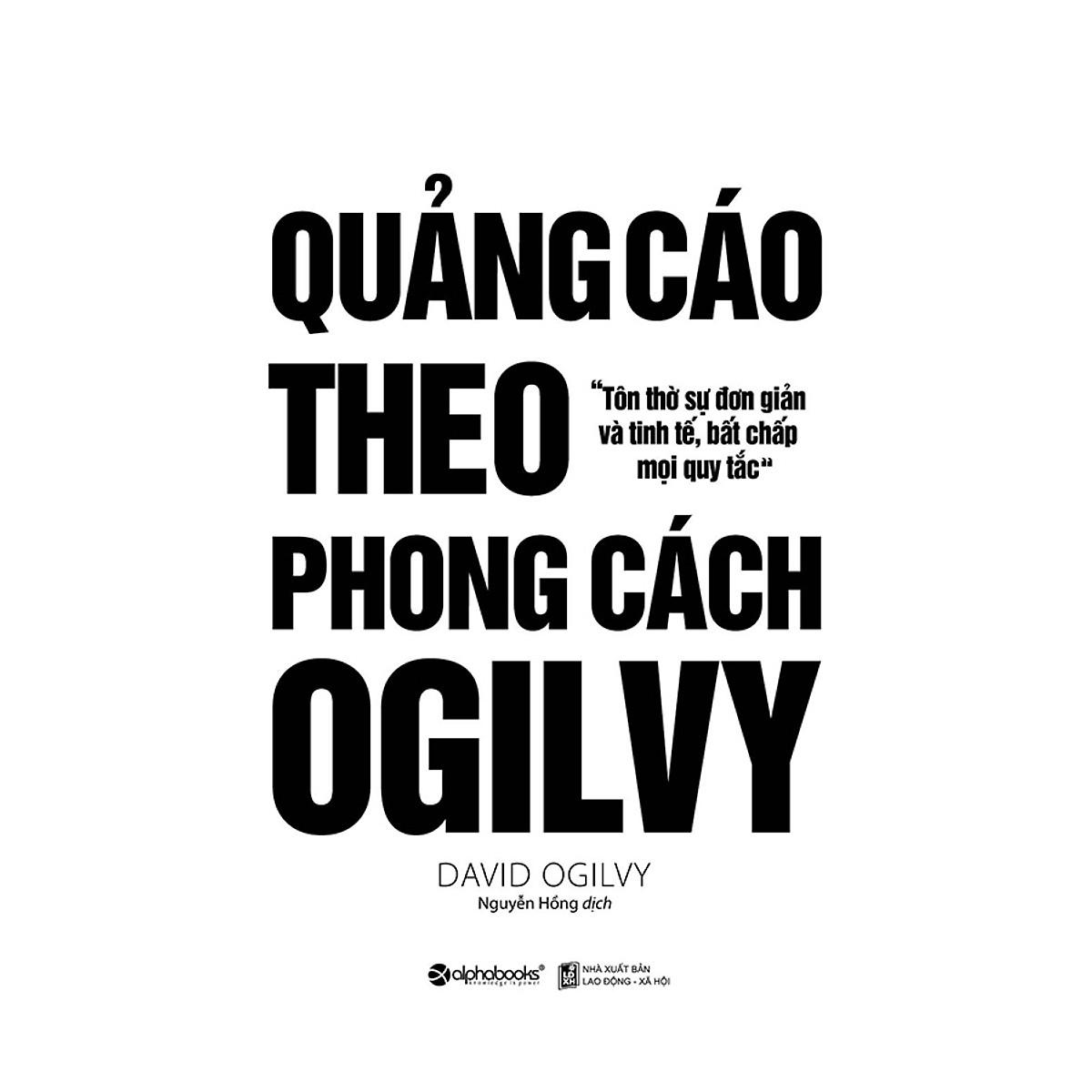 Quảng cáo theo phong cách Ogylvy - Sách hay marketing