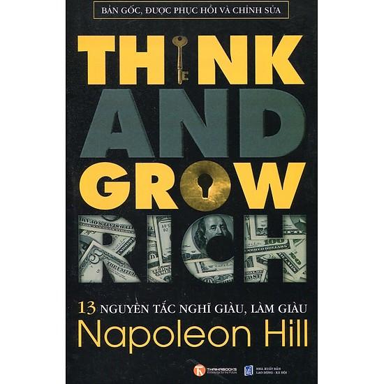 Sách 13 nguyên tắc nghĩ giàu làm giau napoleon hill