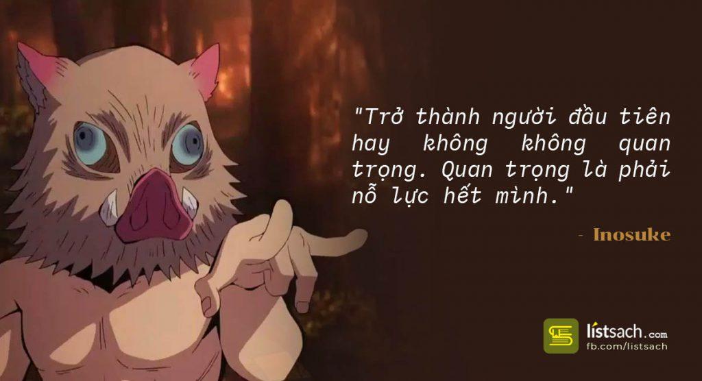 Quote hay của Inosuke - Anime Kimetsu no yaiba   Demon Slayer