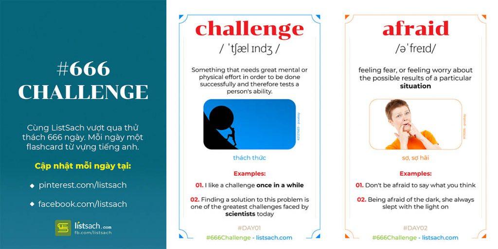 Thử thách học từ vựng tiếng Anh bằng flashcards trong 666 ngày