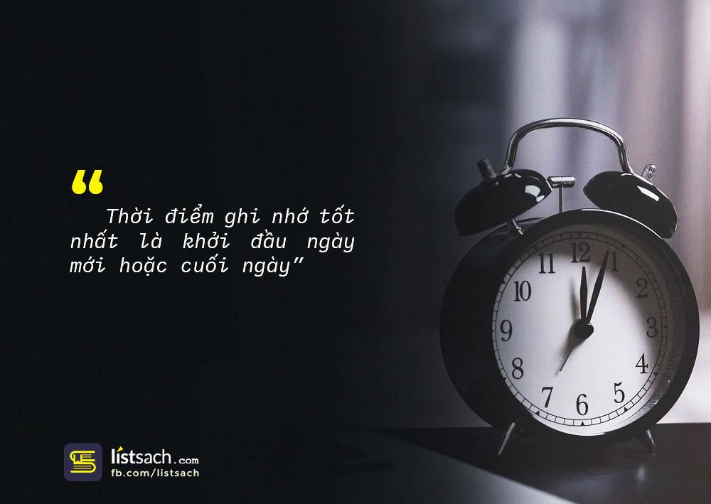 Thời điểm ghi nhớ tốt nhất trong ngày