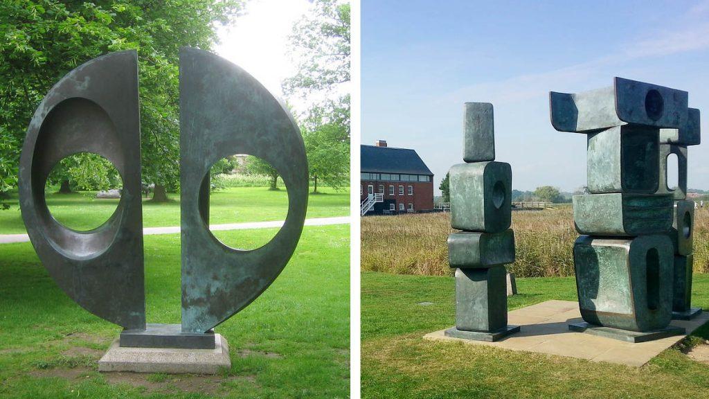 Tác phẩm Two Forms (trái) và The Family of Man (phải)