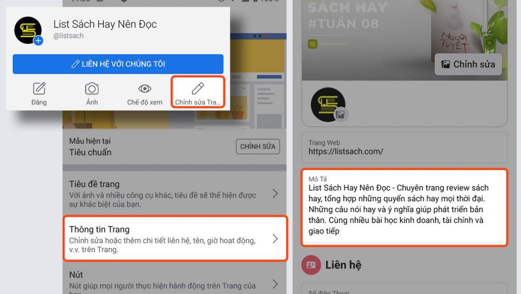 Viết mô tả và tối ưu nội dung cho SEO fanpage Facebook