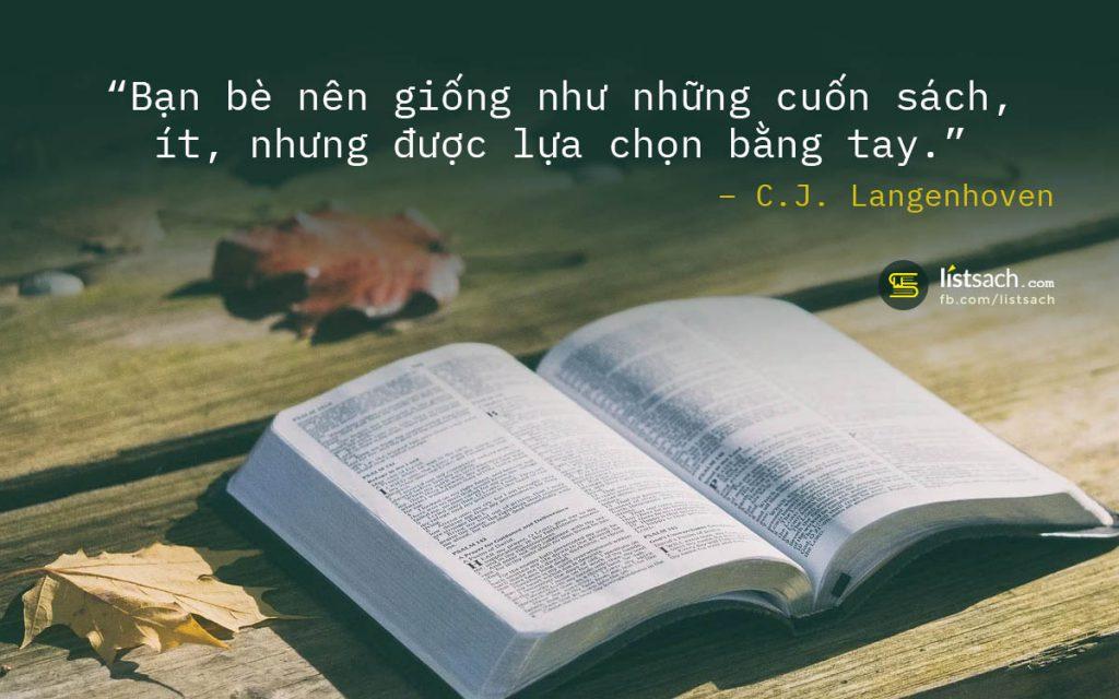 Quotes hay - Bạn bè giống như những quyển sách