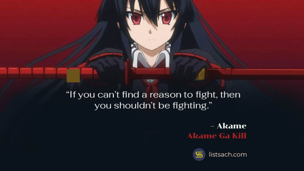 Best anime & manga quotes from Akame ga Kill