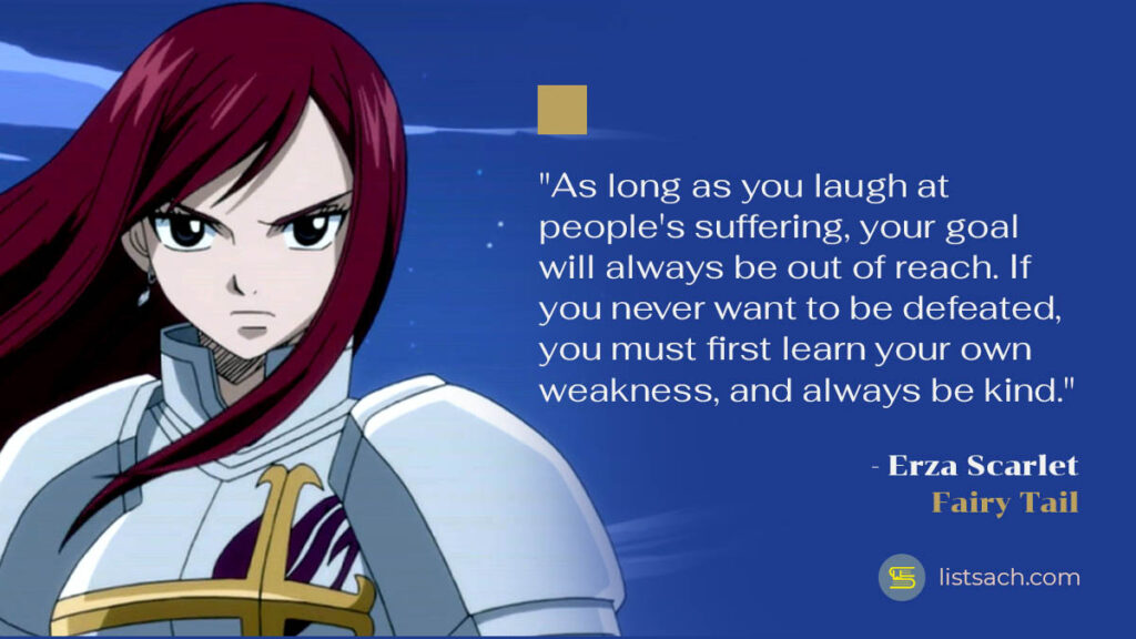 Erza Scarlet quotes from anime Fairy Tail - List Sach