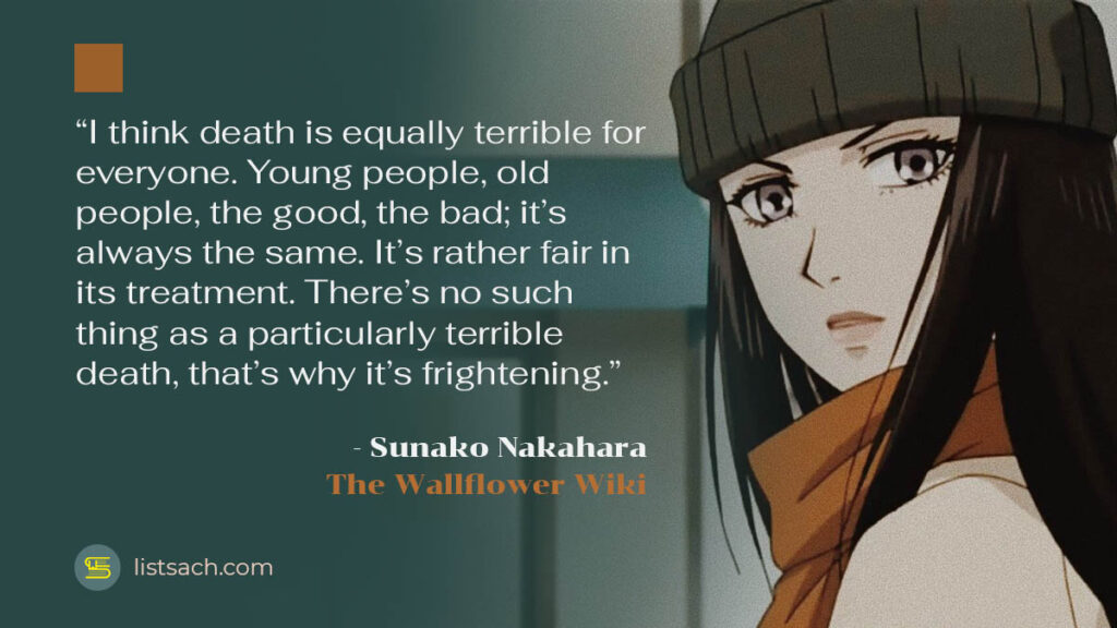 Best sad quotes anime - Sunako Nakahara- List Sach