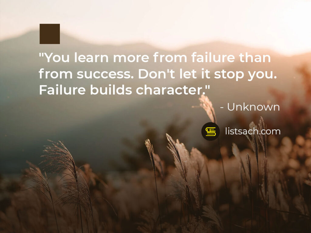 Best quotes about success and failure - ListSach