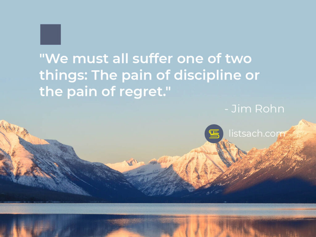 Discipline and Regret - Inspirational quotes - ListSach