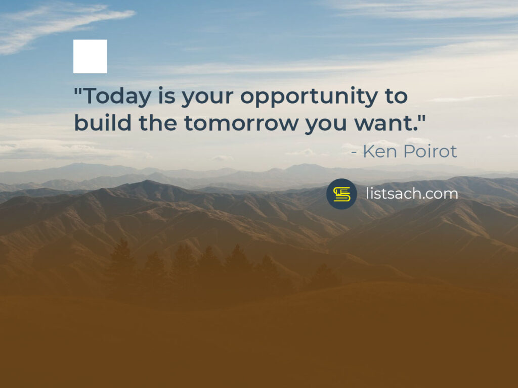 Inspirational quotes build the tomorrow - ListSach