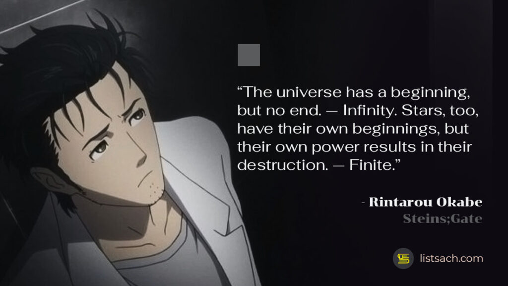 Quotes from anime Steins-Gate by Rintarou Okabe