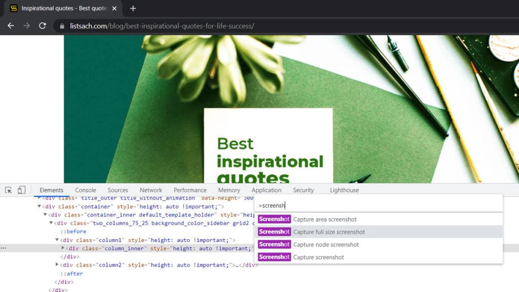Cách chụp toàn bộ trang web đơn giản không cần phần mềm