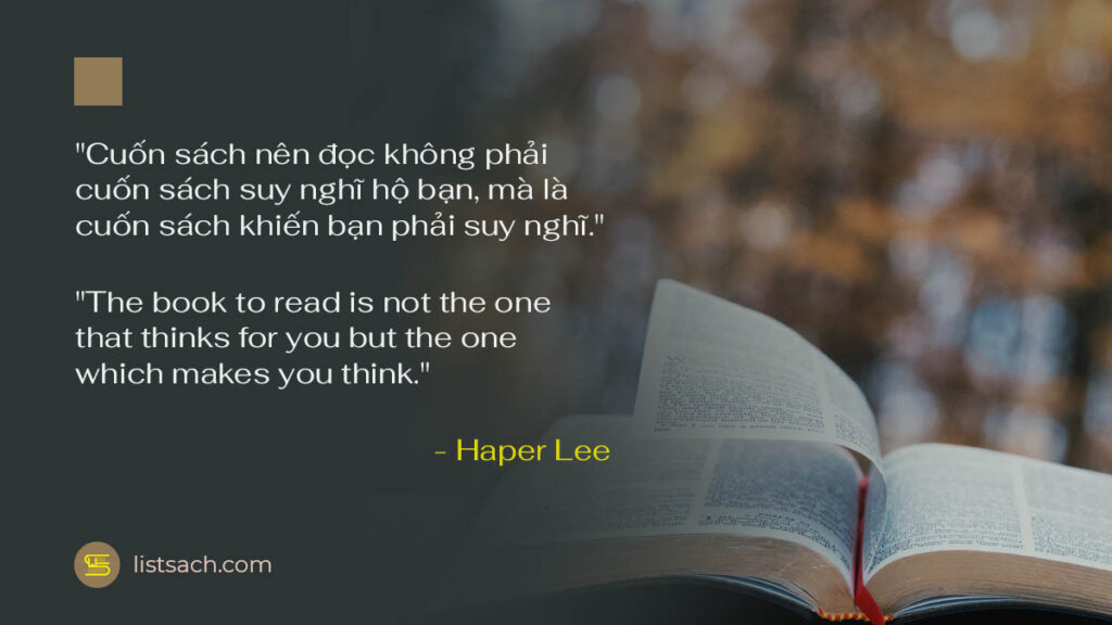 Một câu nói hay về sách của nhà văn Haper Lee