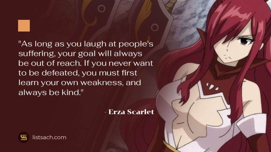 Best Fairy Tail Quotes from Erza Scarlet