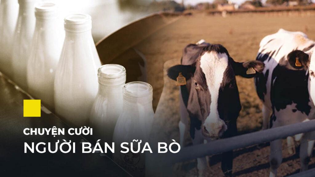 Truyện cười ngắn - người bán sữa bò