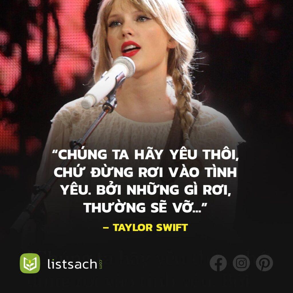 Câu nói vui của Taylor Swift về tình yêu